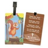 Jesus Is Nuts About Me, Squirrel, ID Backpack Tag
