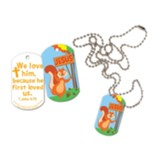 Jesus Is Nuts About Me Laminated ID Tag Necklace