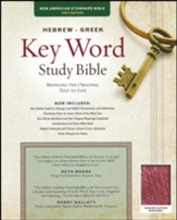 NASB Hebrew-Greek Key Word Study  Bible, genuine leather, burgundy-indexed