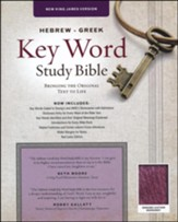 NKJV Hebrew-Greek Key Word Study Bible Genuine Leather Burgundy with thumb index