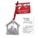 His Name Is Jesus Ornament and Gift Tag