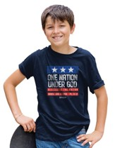 Patriotic Shirt, Navy, Youth Large
