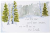 As For Me and My House, We Will Serve the Lord Wall Art