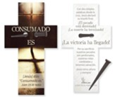 Consumado es, clavo rustico, marcador  (It Is Finished, Rustic Nail, Cross Bookmark)