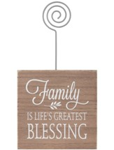 Family Is Life's Greatest Blessing, Photo Holder