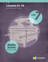 Answers Bible Curriculum Middle School Unit 7 Teacher Guide (2nd Edition) - Slightly Imperfect