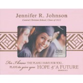 Personalized, Photo Frame, Graduation, 4x6, Pink