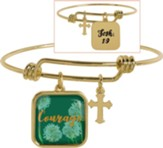 Courage Adjustable Bracelet, Josh 1:9