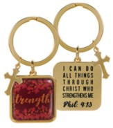 Strength Keyring, Phil 4:13