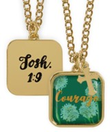 Courage Pendant, Josh 1:9