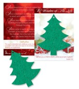 The Wonders of His Love, Christmas Tree, Plantable Seed Card