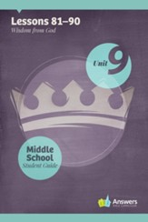 Answers Bible Curriculum Middle School Unit 9 Student Guide (2nd Edition)