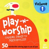 Play-n-Worship for Preschoolers Coloring Pages, Volume 1, CDROM - Slightly Imperfect