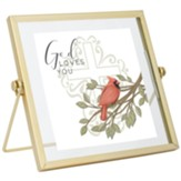 God Loves You Tabletop Plaque