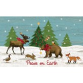 Peace On Earth, Woodland Winter, Doormat