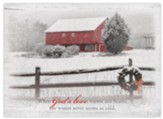 Country Barn Christmas Cards, Box of 12