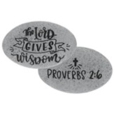 The Lord Gives Wisdom Pocket Stone