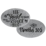 He Is A Shield To Those Who Take Refuge In Him Pocket Stone
