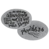 In All Your Ways Acknowledge Him Pocket Stone