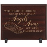 Angels' Arms Memorial Wood Plaque
