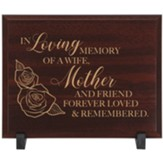 In Loving Memory, Mother Memorial Wood Plaque