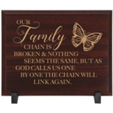 Family Chain Memorial Wood Plaque