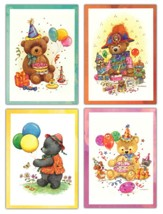 Teddy Bears Birthday Cards, Box of 12
