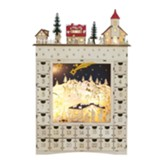 Lighted Wooden Advent Calendar with Drawers