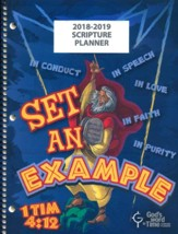 God's Word in Time Scripture Planner: Set An Example  Elementary Student Edition (ESV Version; August 2018 - July  2019)