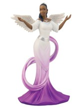 Graceful Angel with Purple Sash