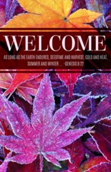 Welcome Fall Frost (Genesis 8:22, NIV) Bulletins, 100