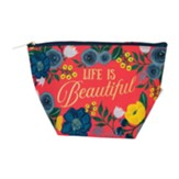 Life is Beautiful Pouch, Floral