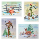 Winter Forest Friends Christmas Cards, Box of 12