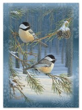 Woodland Chickadees Christmas Cards, Box of 12