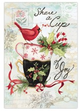 Holiday Tea Petite Christmas Cards, Box of 12
