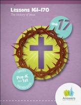 Answers Bible Curriculum PreK-1 Unit 17 Teacher Guide (2nd Edition)