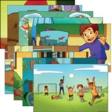Answers Bible Curriculum PreK-1 Unit 17 Justin & Jessie Story Posters (2nd Edition)