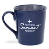 Ceramic Mug-Faithful Servant III-Navy