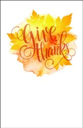 Give Thanks Leaves Bulletins, 100