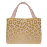 All The Things Zippered Tote Bag, Leopard Print, Blush