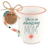 Amazing Mom, Philippians 1:7, Ceramic Mug, Floral