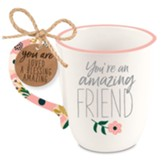 Friend, Philippians 1:7, Ceramic Mug, Floral