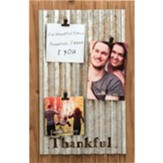 Thankful Wood and Metal Clip Photo Wall Art