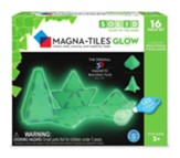 Magna Tiles Glow Set, 16 Pieces