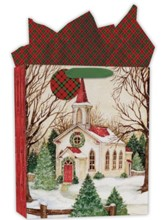 Evergreen Christmas Gift Bag, Large