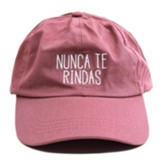 Never Give Up Cap, Spanish, Pink