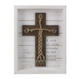 Wood Cross Shadow Box