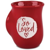 Handwarmer Mug, Red, Circle, 1 John 4:7
