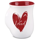 Handwarmer Mug, White, Heart, 1 Peter 1:22