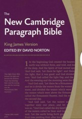 KJV New Cambridge Paragraph Bible Personal Size, Calfskin, black - Slightly Imperfect